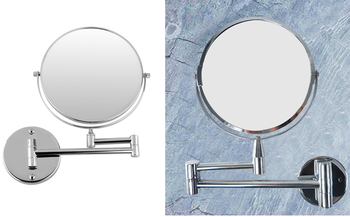 7 wall mounted 5x magnifying extending bathroom cosmetic shaving make up mirror ebay. Black Bedroom Furniture Sets. Home Design Ideas