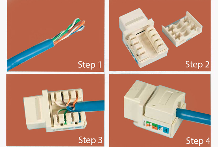 Rj45 Cat7 Cat6 Cat5e Cable Tester Keystone Jack Connectors Boots Network Kit