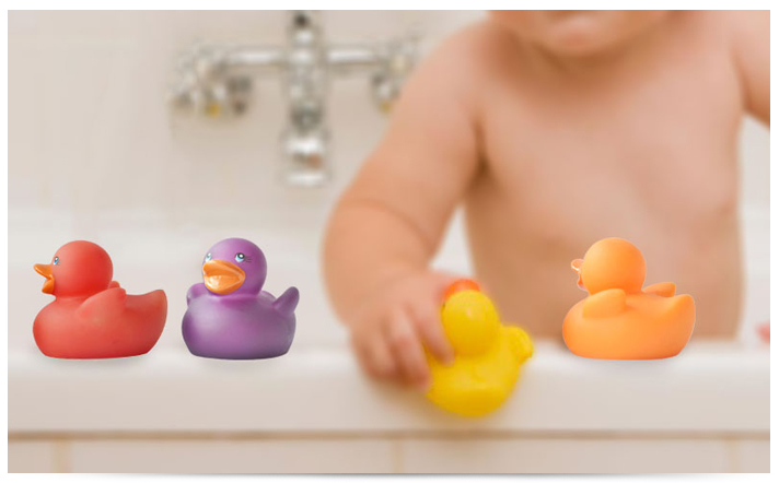 4 Pcs Rubber Colour Changing Ducks Baby Bath Time Fun Squeaky Toy ...