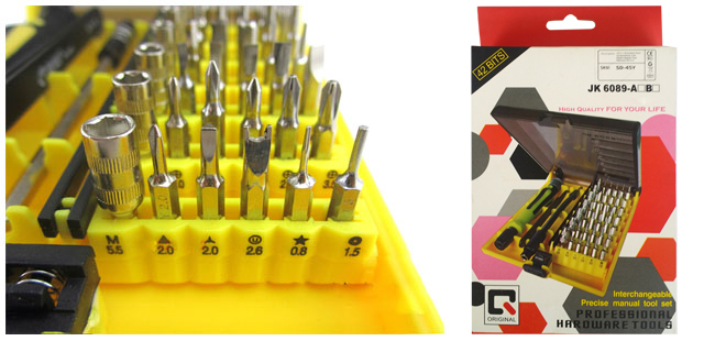 45pcs In1 Precision Mini Star Screwdriver Torx Hex Bit Set