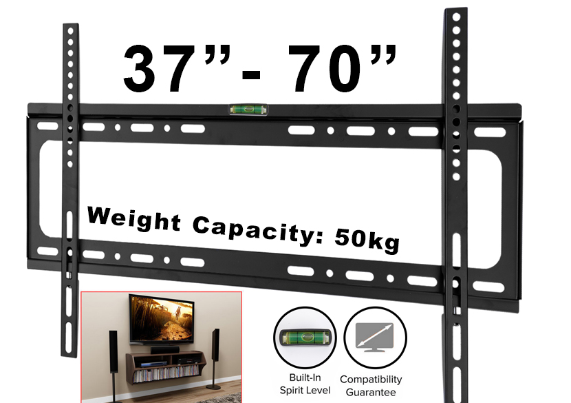 Slim Tv Wall Mount Bracket 37 40 42 46 48 55 60 65 70 Inch