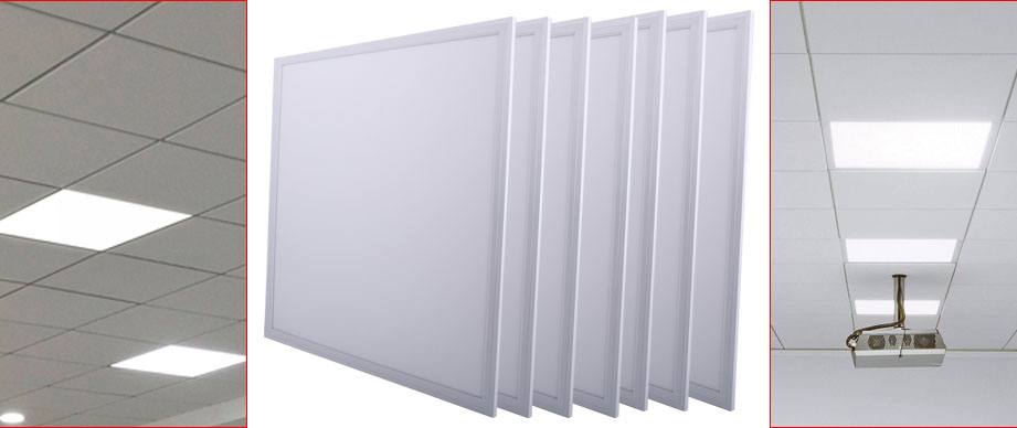 Suspended Ceiling Lights 600mm X 600mm : W suspended ceiling recessed led panel white light